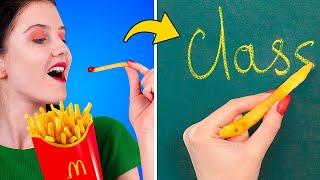Канцелярия в виде фастфуда – 9 идей / Когда девушка на диете