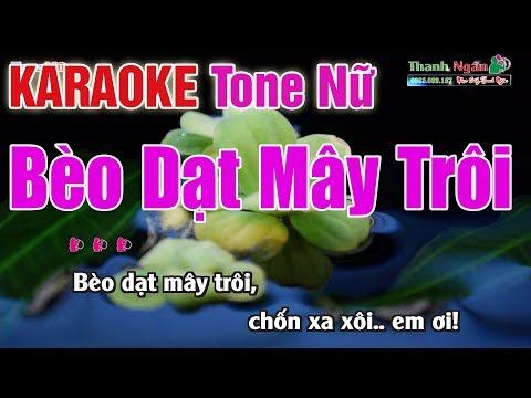 Bèo Dạt Mây Trôi Karaoke 2020   Tone Nữ - Nhạc Sống Thanh Ngân