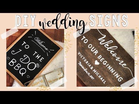 DIY Wedding Signs | DIY Wedding Decoration Ideas