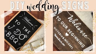 DIY Wedding Signs | DIY Wedding Decoration Ideas