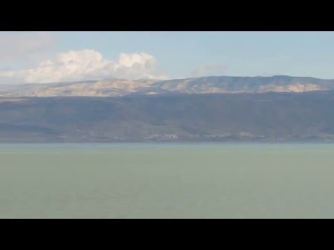 The Dead Sea, Neve Midbar Beach  - Look how beautiful and clear is the scenery after the rain