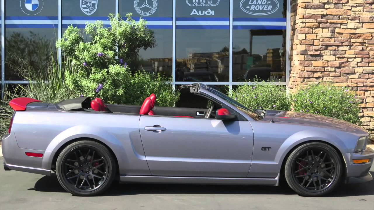 canam imports 2006 ford mustang gt premium convertible youtube. Black Bedroom Furniture Sets. Home Design Ideas