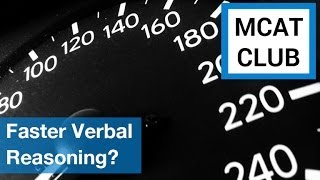 Faster ways to finish MCAT verbal reasoning passages?