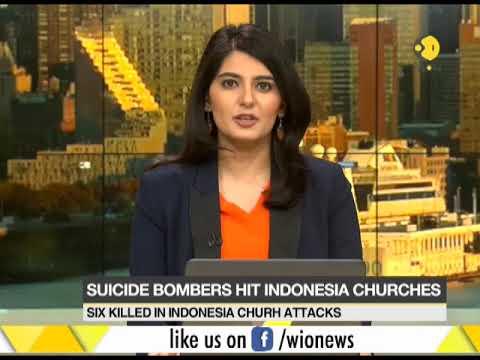 Six killed in Indonesia church attacks