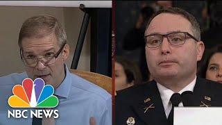 Vindman Tells Jordan He Would 'Never' Leak Information   NBC News