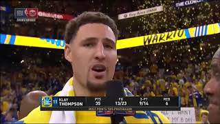 Klay Thompson Postgame Interview - Game 6 | Rockets vs Warriors | 2018 NBA West Finals