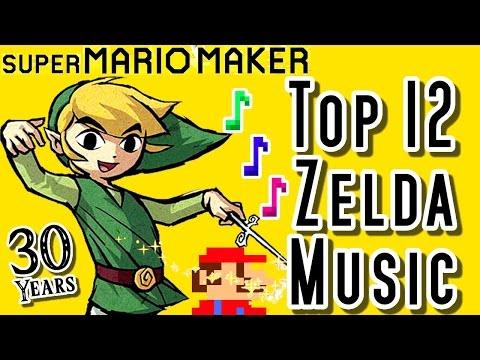 Super Mario Maker TOP 12 ZELDA MUSIC LEVELS (Wii U)
