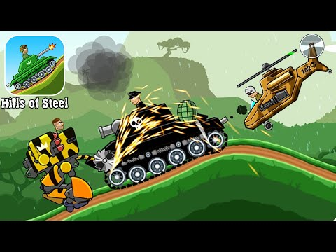 Hills Of Steel - Новый танк АТЛАС против Боссов прохождение игры Хилс оф Стил, Walkthrough Gameplay
