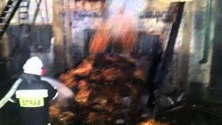 Pożar obory i stajni w Radoczy