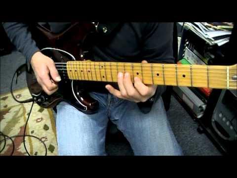 Ibanez Blazer - A Minor To D Minor Practice Session - Www.guitarlessonsbuffalony.com