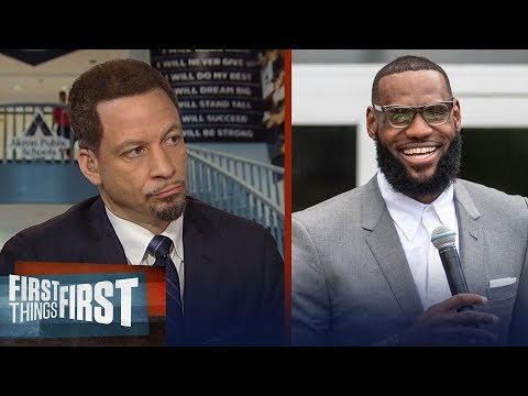 Chris Broussard praises LeBron for opening school for at-risk youth   NBA   FIRST THINGS FIRST