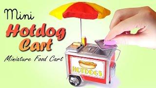 Cute Mini Hotdog Cart Tutorial // DIY Miniature Food