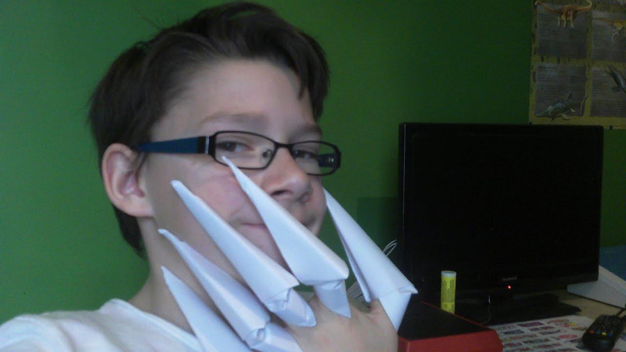 Comment faire des griffes en origami rd et fp youtube - Comment faire des origamie ...