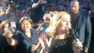 Adele FANTASTIC CLOSE UP WALK PAST in Verona Arena Italy - 39 Hello 39 Entrance 28th May 2016.mp3