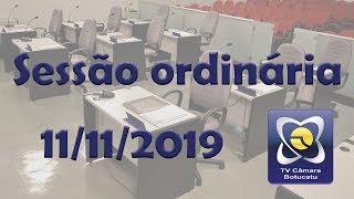 Sessão Ordinária - 11/11/2019