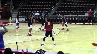Inside look at USC basketball: Half court practice