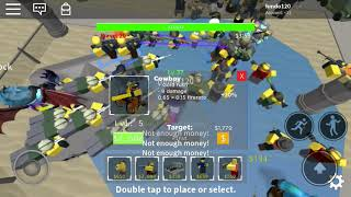 Roblox tower defense simulator trying to get commando!
