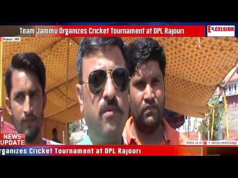 Team Jammu Organizes Cricket Tournament at DPL Rajouri