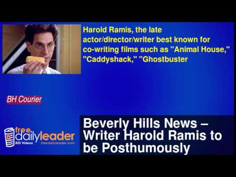 Beverly Hills News – Writer Harold Ramis to be Posthumously Honored by WGA