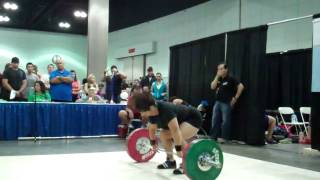 Kathy Redcher-Bowling Jerks 90 kg at the 2014 American Record Makers