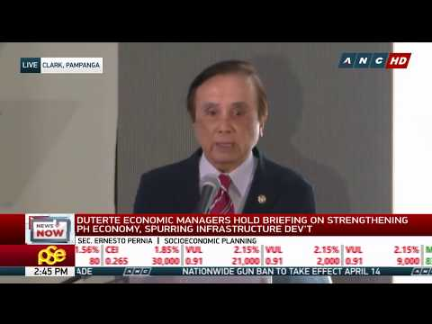 WATCH: Duterte economic managers hold briefing | 13 April 2018
