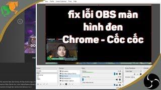 Hướng dẫn cách sửa lỗi màn hình đen OBS với Chrome hoặc Cốc Cốc (Fix black screen OBS)