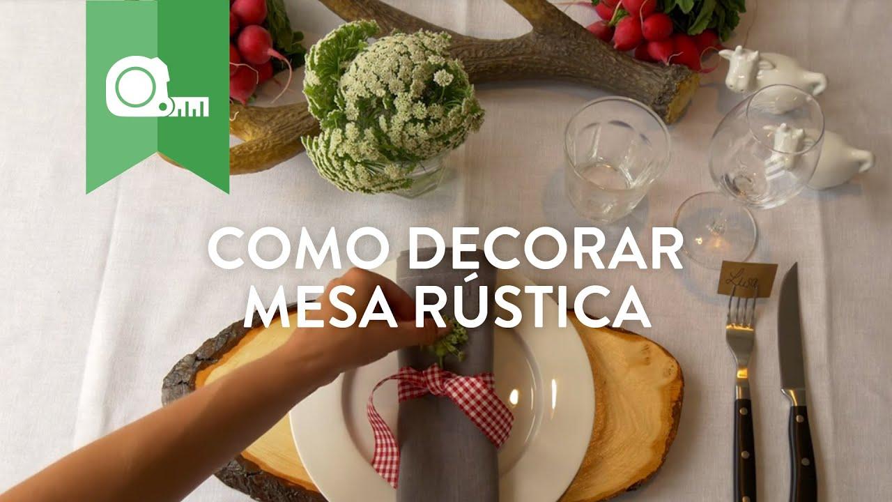 Como Decorar Mesa de Jantar Rústica WESTWING YouTube -> Como Decorar Mesa De Jantar Para Casamento