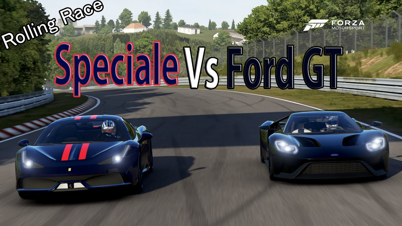 Forza Motorsport 6 - DRAG RACE: Ford GT 2020 Vs Ferrari 458 Speciale ...