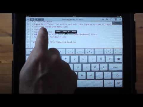 Textastic iPad code editor / iPad text editor 1