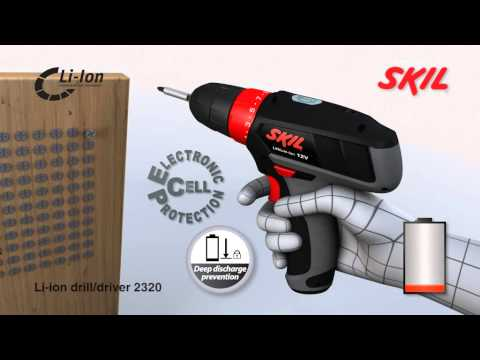 Skil 2320 - 12V cordless drill with variable speed control and Lithium-Ion battery