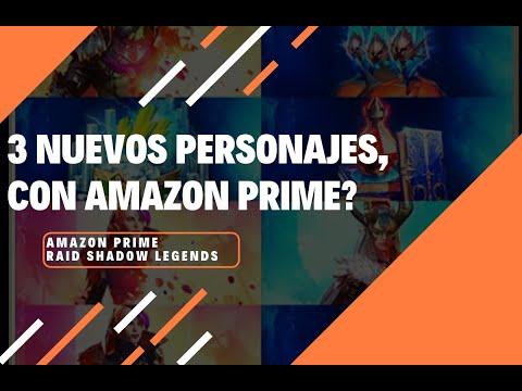 3 NUEVOS PERSONAJES CON AMAZON PRIME? RAID SHADOW LEGENDS