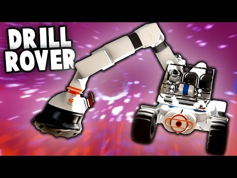 MASSIVE Drilling Moon Buggy!  Building the Bat Cave Base (As