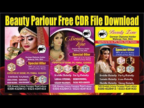 beauty parlour flex design | cdr beauty parlour flex design 2020
