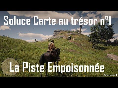 carte de la piste empoisonnée Red Dead Redemption 2   Soluce Carte n°1 de la piste empoisonnée