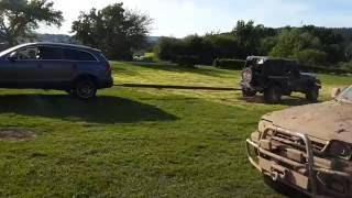 Audi Q7 vs Jeep Wrangler порвали мост на Wrangler Achse gebrochen Off-road in Mammutparck 17.07.2016