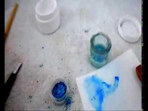 Gel Nails Uñas De Gel Diseño Cola De Sirena Azul