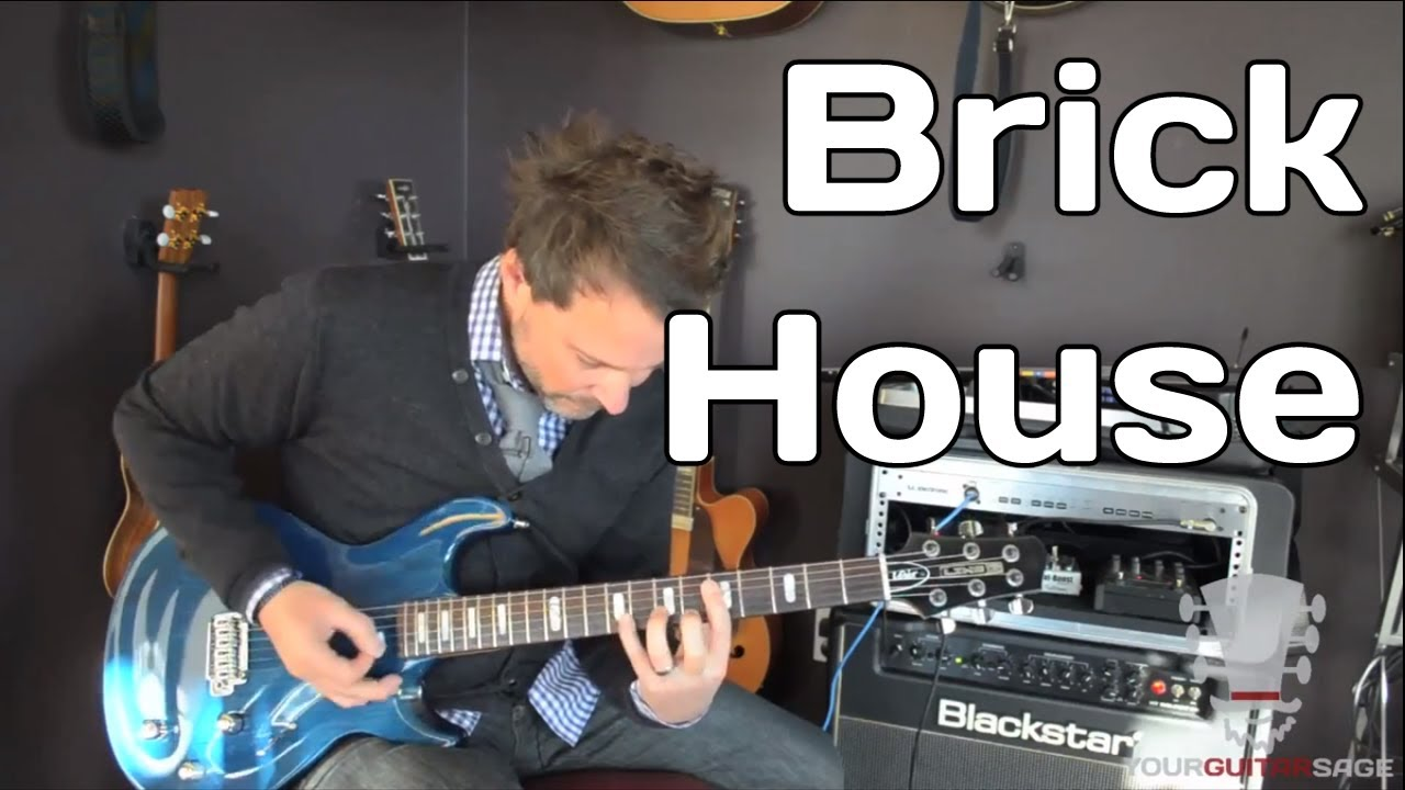How To Play Brick House By The Commodores Guitar Lesson Youtube
