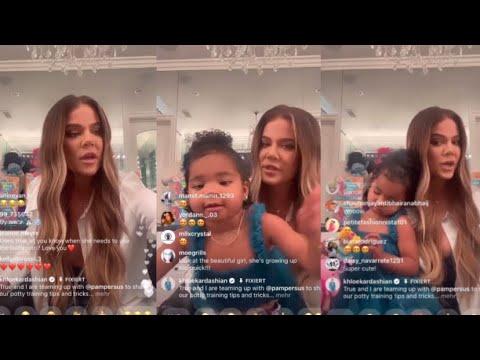 Khloe Kardashian & True Instagram Live  L 25. June