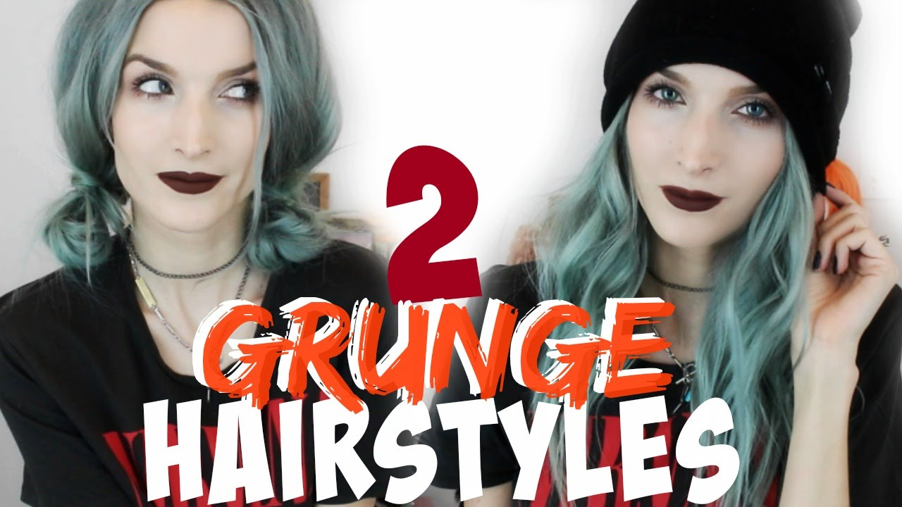 Hairstyle 90s: Grunge Curls & Pigtail Buns - YouTube