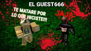 Creepypasta de Dragon Ball Rage | El GUEST666 | ROBLOX