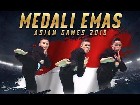 Beregu Putra, Trio Pencak Silat Raih Emas Kelima Belas (15) Indonesia Di Asian Games 2018
