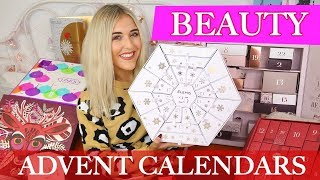 OPENING BEAUTY ADVENT CALENDARS 2018 | Elemis, The Body Shop, Glossybox Advent and More!