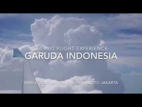 Garuda Indonesia A330-300 Flight Experience : GA 1492 Padang to Jakarta