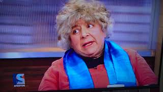 ITV Peston on Sunday Miriam Margolyes swears