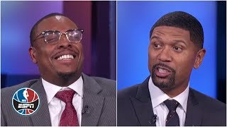 Paul Pierce laughs at Jalen Rose for picking Klay Thompson to guard James Harden | NBA Countdown