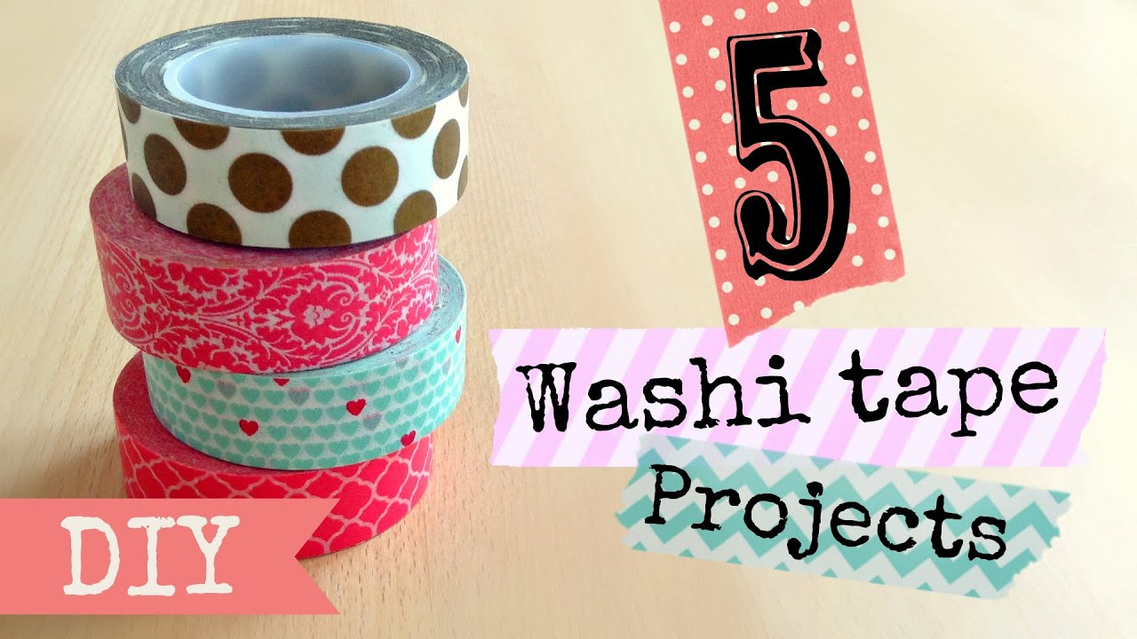 diy washi tape projects easy youtube. Black Bedroom Furniture Sets. Home Design Ideas