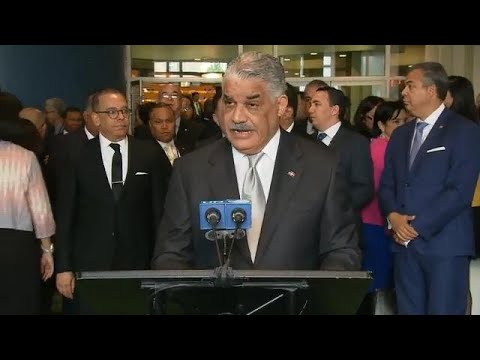 Miguel Vargas (Dominican Republic) - General Assembly Media Stakeout (8 June 2018)