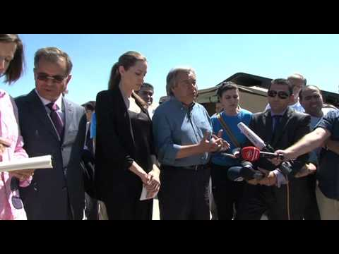 WorldLeadersTV: ANGELINA JOLIE in TURKEY with SYRIAN REFUGEES (UNHCR)