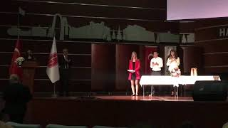 2018 HÜ Mühendislik Fakültesi Proje Yarışması Birincilik ödülü