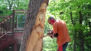 Oak Stump Chainsaw Carving By John Melo Mirror Lake,may 2011